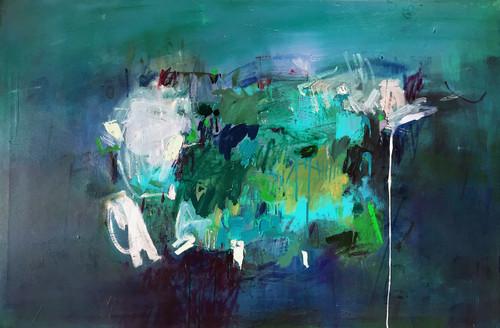 Kate Barry Artist | Silver lining | 72 cm x 107 cm