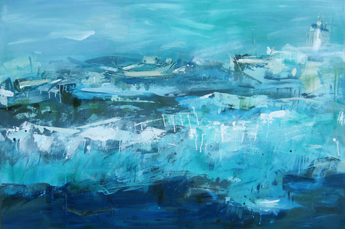 Kate Barry Artist | Tempestuous White | 105 cm x 155 cm
