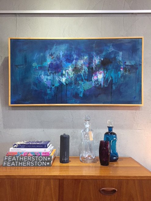 Storm Horizon | 54 cm x 105 cm | Framed | Oil and Acrylic on linen SOLD