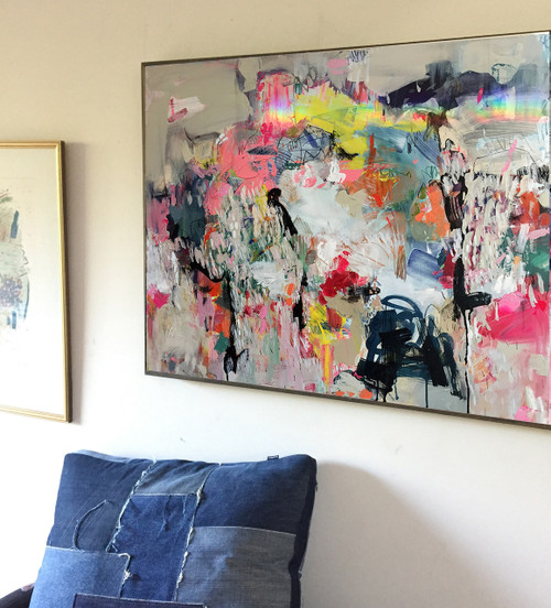 Kate Barry Artist | As It Goes | 79 cm x 104 cm | Framed | Oil and acrylic on canvas