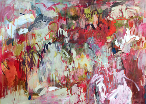 Kate Barry Artist | Sunlight Seam | 93 cm x 128 cm | Framed | Ink and acrylic on linen