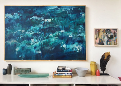 Shifting Seas | 105 cm x 155 cm | Framed | Oil and acrylic on linen COMMISSION