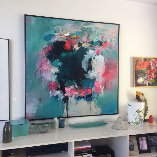 Winter Melon  | 125 cm x 125 cm | Framed | Acrylic, water based oil and pastel on canvas COMMISSION