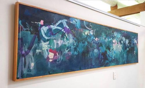 Kate Barry Artist | Turbulence | 64 cm x 245 cm | Unframed | Oil, acrylic and pastel on board