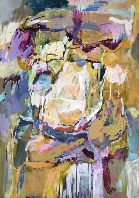 Kate Barry Artist | Rays Interception | 124 cm x 88 cm | Framed | Oil and acrylic on canvas