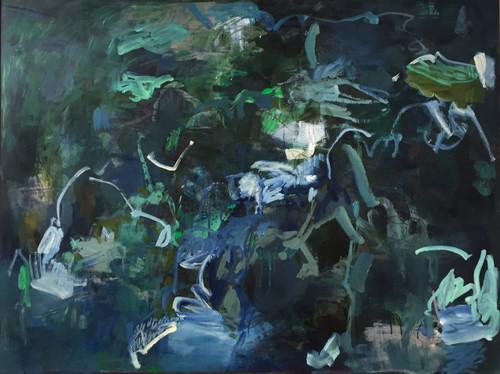 Wave Jumping | 93 cm x 124 cm | Framed | Oil, acrylic and pastel on board