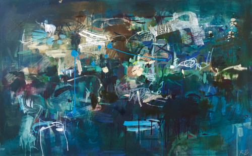 In The Shallows | 79 cm x 125 cm | Framed | Oil and acrylic on canvas