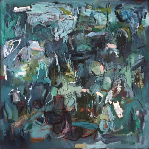 Accession | 63 cm x 63 cm | Framed | Oil on canvas