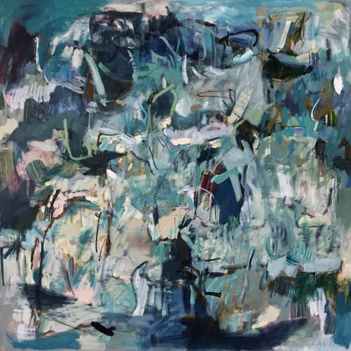 Kate Barry Artist   Dissipate   78 cm x 78 cm   Framed   Oil on canvas