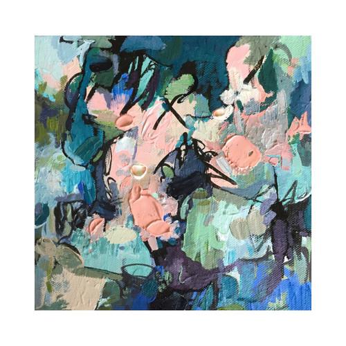 Kate Barry Artist   Putty   23 cm x 23 cm   Framed   Oil and acrylic on canvas