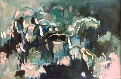 Nestled Landscape 2 | 63 cm x 94 cm | Framed | Oil and acrylic on board