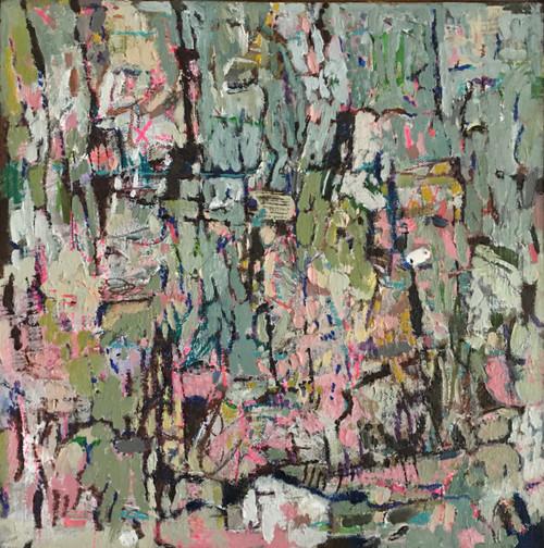 Kate Barry Artist   Bleached   34 cm x 34 cm   Framed   Oil and acrylic on linen
