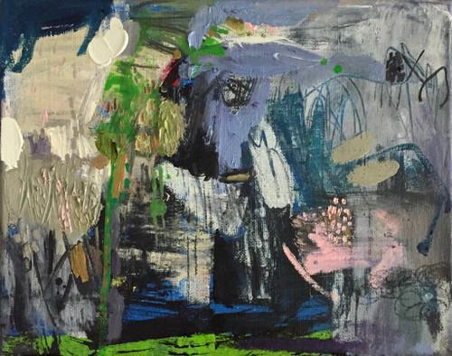 Kate Barry Artist | Tin and Steel | 23 cm x 28 cm | Framed | Oil and acrylic on canvas