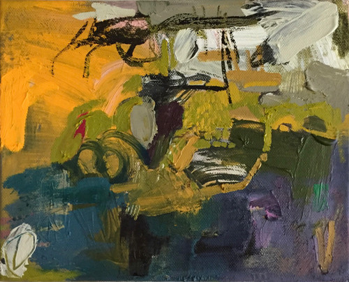 Kate Barry Artist   Summer Kick In   23 cm x 28 cm   Framed   Oil and acrylic on canvas