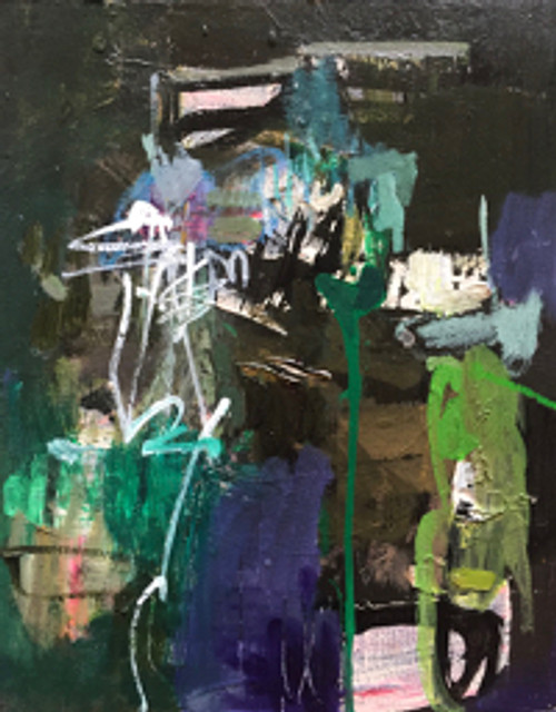 Kate Barry Artist | Night Owl | 44 cm x 34 cm | Framed | Oil on canvas