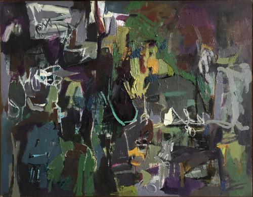 Kate Barry Artist   Ruins   40 cm x 49 cm   Framed   Oil and acrylic on linen