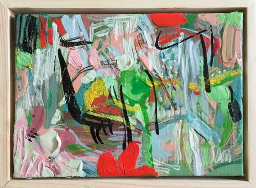 Zesty   15 cm x 20 cm   Framed   Oil and acrylic on canvas