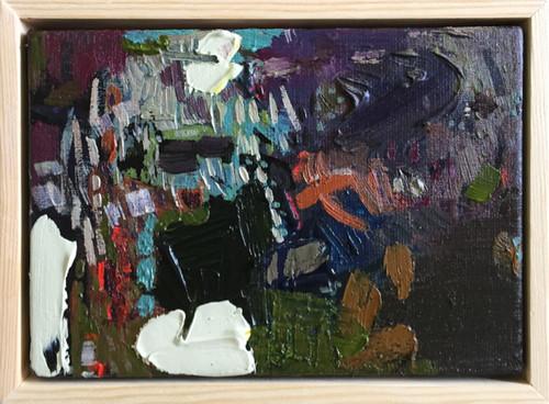 Soft Tread   15 cm x 20 cm   Framed   Oil and acrylic on canvas
