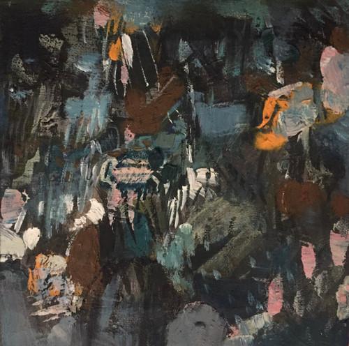 Kate Barry Artist | Buttercup Ground | 23 cm x 23 cm | Framed | Oil and acrylic on canvas