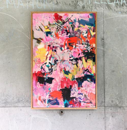 Kitty | 83 cm x 55 cm | Framed | Oil and acrylic  on board