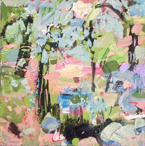 Kate Barry Artist | Hydrangeas | 23 cm x 23 cm | Framed | Acrylic on canvas