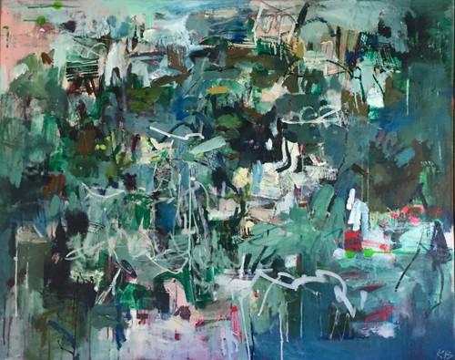 Kate Barry Artist | Field Captures | Oil and acrylic | 100 cm x 100 cm