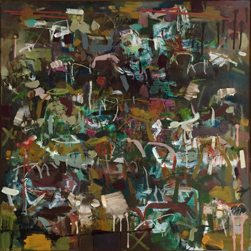 Autumn Maelstrom | 63 cm x 63 cm | Framed | Oil, acrylic and pastel on canvas