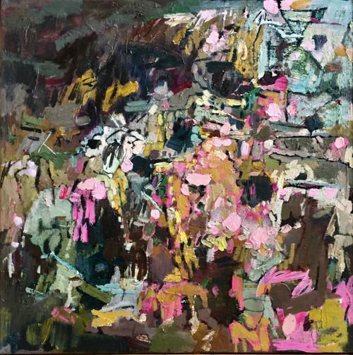 Kate Barry Artist  | Potpourri | 49 cm x 49 cm | Framed | Oil and acrylic on linen