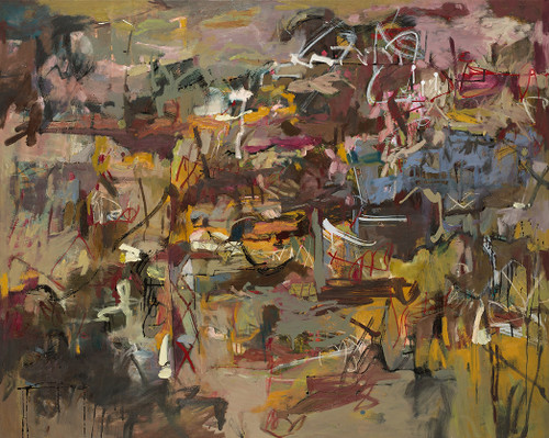 Trundle and Cross  | 125 cm x 155 cm | Framed | Oil, acrylic and ink on canvas | Kate Barry