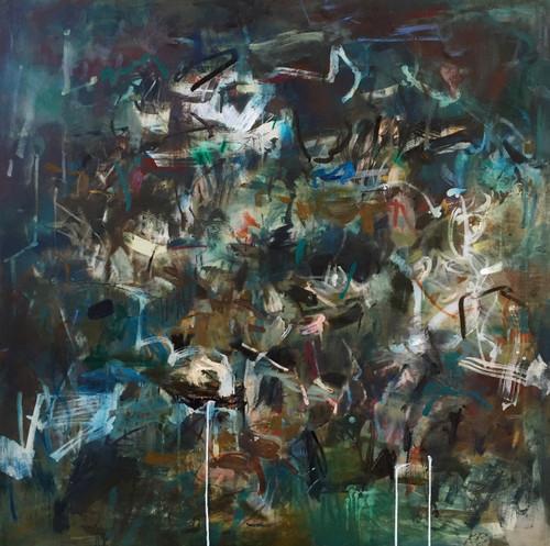 Kate Barry Artist | Field Captures | Oil | Framed | 110 cm x 110 cm