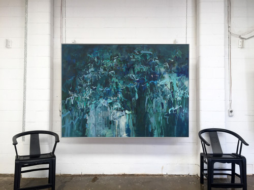 Kate Barry | Torrent | 125 cm x 185 cm | Framed | Oil on canvas