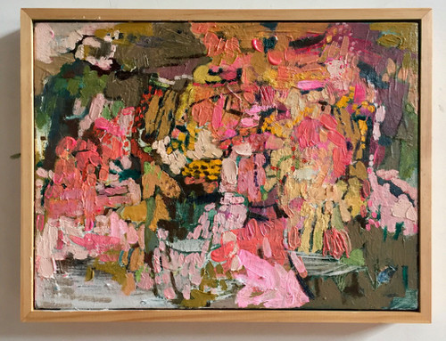 Kate Barry Artist | Faded Garden | 34 cm x 44 cm | Framed | Oil and acrylic on linen