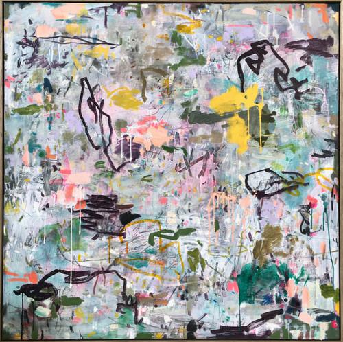Native Muse   110 cm x 110 cm   Framed   Oil on canvas