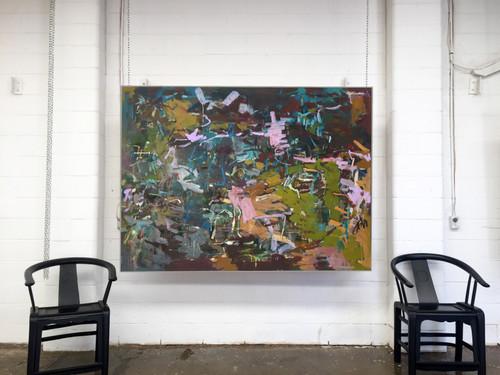 Kate Barry Artist | Cloaked Terrain | Oil and acrylic | 125 cm x 155 cm