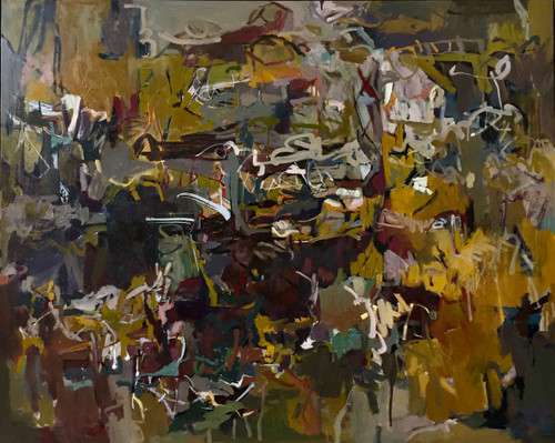 Kate Barry Artist | Scattered Land | Oil and acrylic | 125 cm x 155 cm