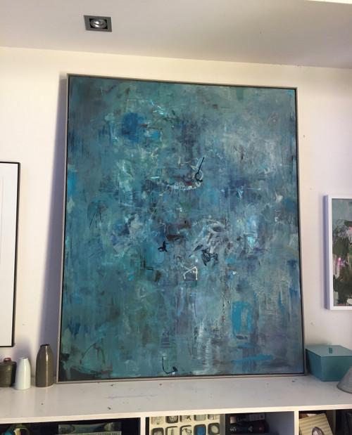 Faded Farewell  | 155 cm x 125 cm | Framed | Oil on canvas | Kate Barry