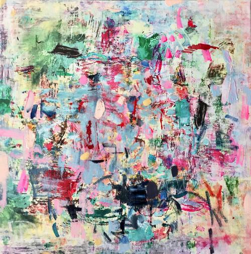 Flighty | 35 cm x 35 cm | Framed | Oil and acrylic on canvas