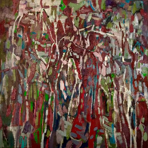 Totem | 34 cm x 34 cm | Framed | Oil on canvas