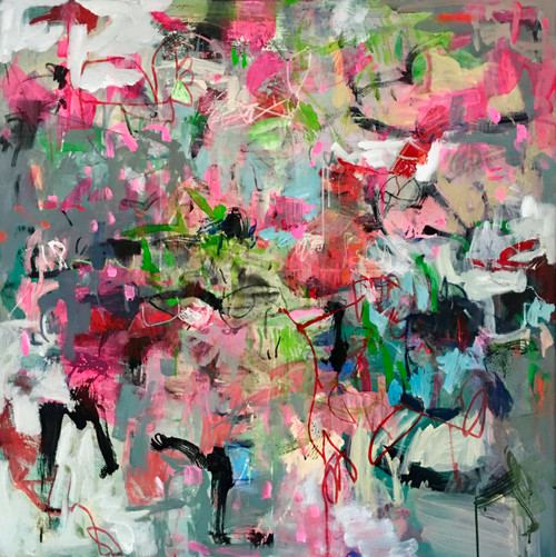 Reckless Way   104 cm x 104 cm   Framed   Acrylic and water based oil on linen