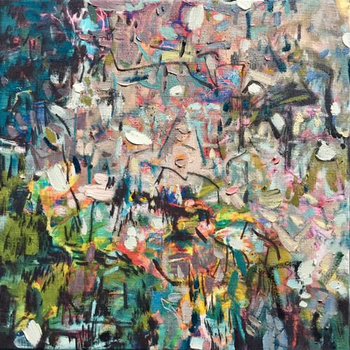 Confetti | 34 cm x 34 cm | Framed | Oil on linen