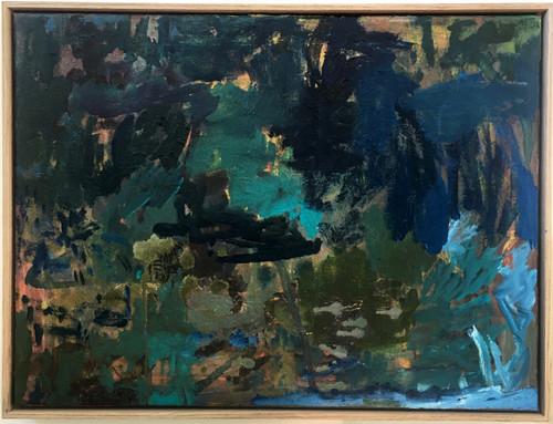 Adrift from the Shore | 63 cm x 47 cm | Framed | Oil on canvas