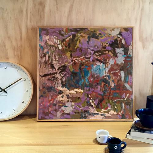 Scatter   34 cm x 34 cm   Framed   Oil on linen