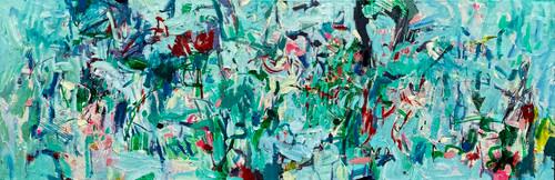 Flurry | 40 cm x 115 cm | Framed | Oil on canvas
