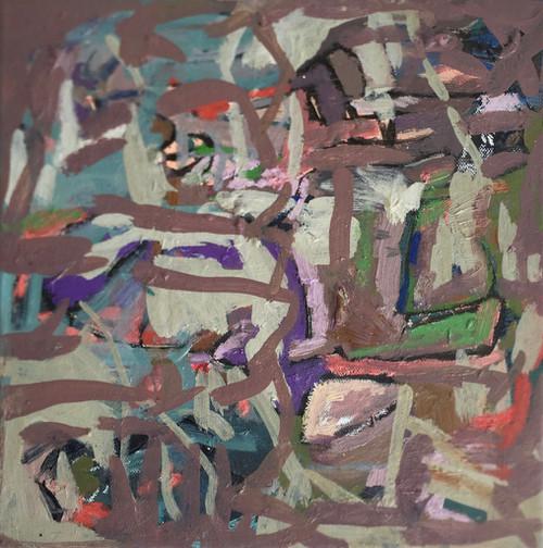 Crossroads | 34 cm x 34 cm | Framed | Oil on linen