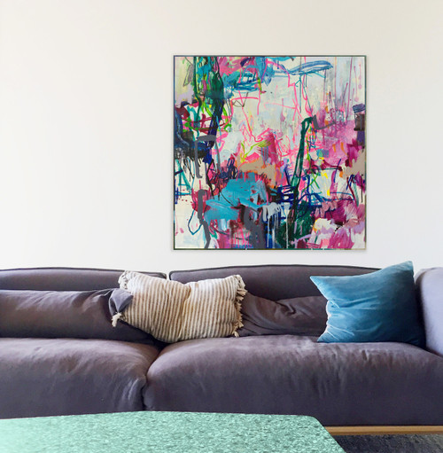 Have and Hold | 105 cm x 105 cm | Framed | Ink, acrylic and oil on canvas