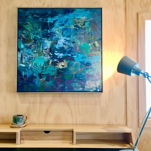 Secret Paths | 48 cm x 60 cm | Framed | Acrylic and Oil on board
