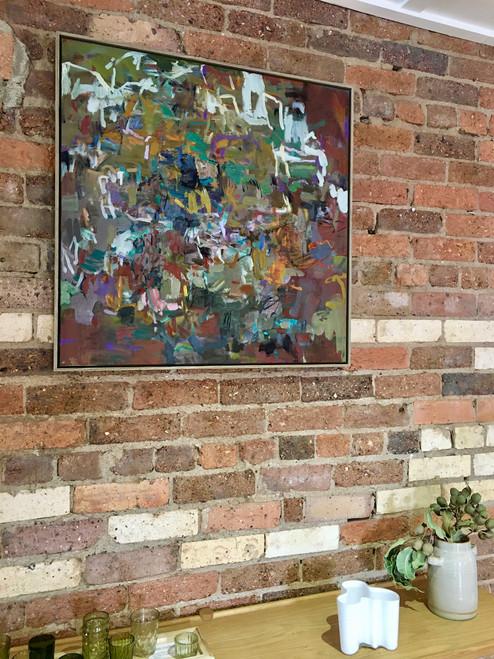Ulterior | 78 cm x 78 cm | Framed | Oil on canvas