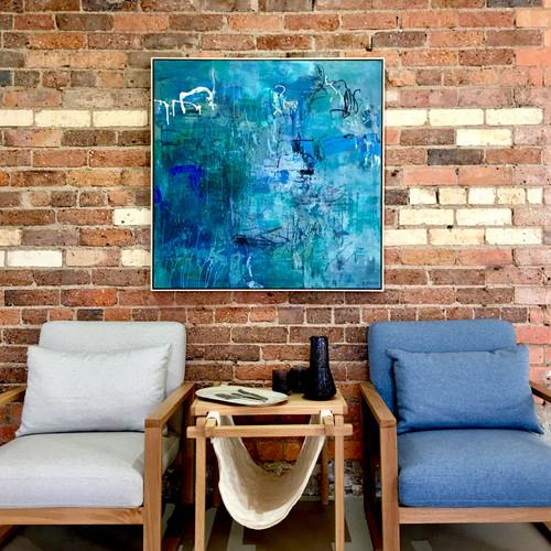 Memento | 105 cm x 105 cm | Framed | Oil on canvas
