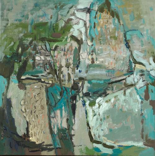Funnelled | 33 cm x 33 cm | Framed | Oil on canvas