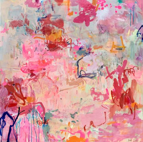 Halcyon | 104 cm x 104 cm | Framed | Acrylic and oil on canvas